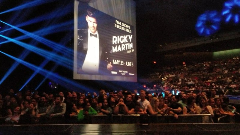 Ricky Martin 4k Pre-concert 05/23/2018 (All In) Park Theater at Monte Carlo, Las Vegas