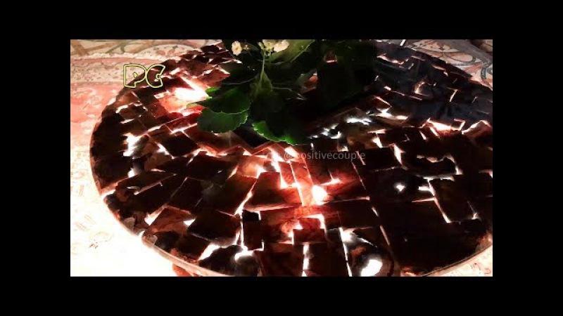 Table of waste wood and resin ArtLine Crystal Стол из обрезков и смолы ArtLine Crystal!