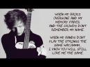 Ed Sheeran - Thinking Out Loud Lyrics With Music