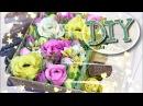 Цветы из гофрированной бумаги для свит бокса. DIY. Flowers for Sweet box.