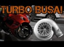 FAST ZX-14 and N/A Hayabusa VS TURBO BUSA! 60-160 (200+MPH!!)