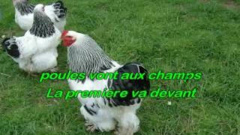 Comptine Quand trois poules vont aux champs karaoké Joseph BULLA