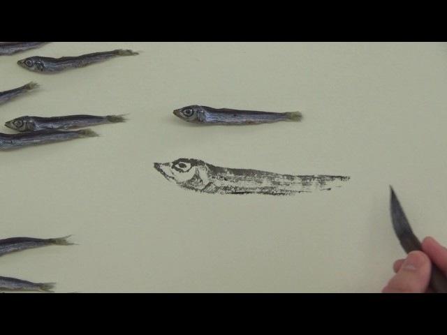 篠原貴之 水墨画塾 Vol.24 水墨画デモンストレーション「片口鰯」