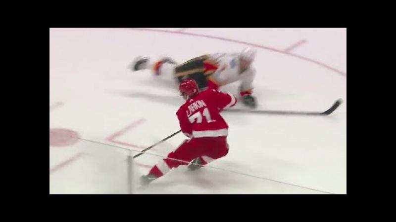 Gotta See It: Red Wings' Larkin slams on brakes, snipes top corner on Flames' Lack