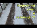 Заполняю теплицы снегом Подзимние посадки зелени