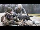 U S German Soldiers Working Together Weapons Familiarization Range