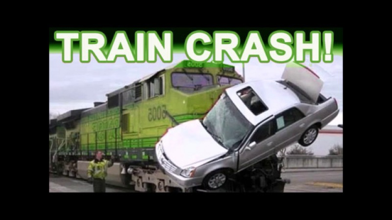 MUST SEE!! INSANE TRAIN CRASH FOOTAGE! Derailed Epic Fail Locomotives People VS Trains Compilation!