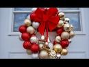 Decoraciones De Navidad Como Hacer Corona De Esferas Coronas Navideñas Para La Puerta