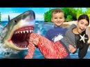 АКУЛА в Доме, ОПАСНЫЕ игры с НЕРФ Гранатометом Bad Shark Johny Johny Nursery Rhymes Learn Colors