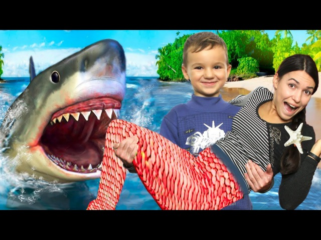 АКУЛА в Доме, ОПАСНЫЕ игры с НЕРФ Гранатометом Bad Shark Johny Johny Nursery Rhymes Learn Colors