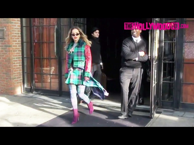 Rita Ora Is In The Holiday Spirit While Leaving The Bowery Hotel Amid Conor McGregor Dating Rumors