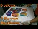 E17 Acrylic Pouring: BIG Canvas, 7 Cups, No Silicone
