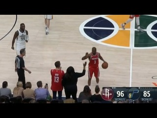 Chris Paul Gets Called for Turnover For High-Fiving James Harden's Mom