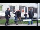 Драка пьяных мужиков с полицейскими | Drunk Russian rednecks vs Russian trash police