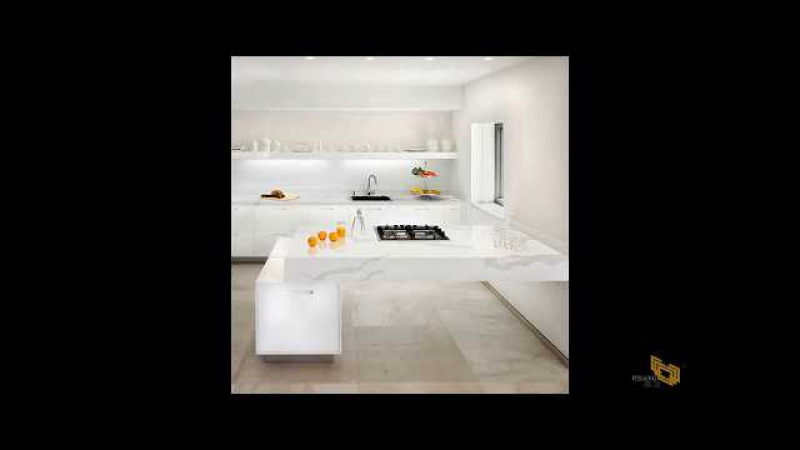 White Calacatta QuartzSlab for Kitchen Countertops with Cheap Prices that Look like Marble