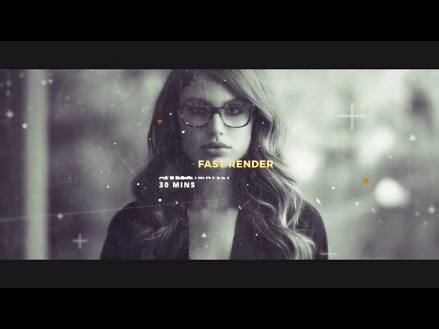 After Effects intro template | Digital Parallax Slideshow I Opener Free Download