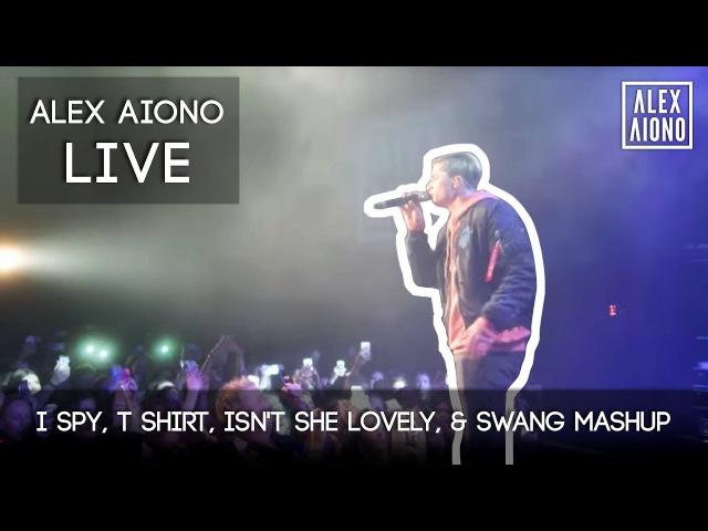 Live I Spy, T Shirt, Isn't She Lovely, Swang MASHUP | Alex Aiono