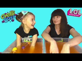 Джелли БАФФ ЧЕЛЛЕНДЖ и куколки ЛОЛ | GELLI BAFF TOY CHALLENGE GAME & LOL Surprise Dolls
