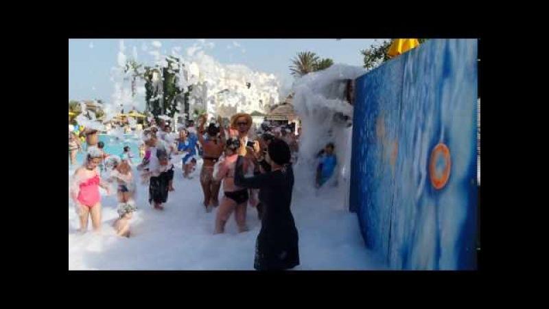 Hotel LTI Mahdia Beach, Tunisia foam party