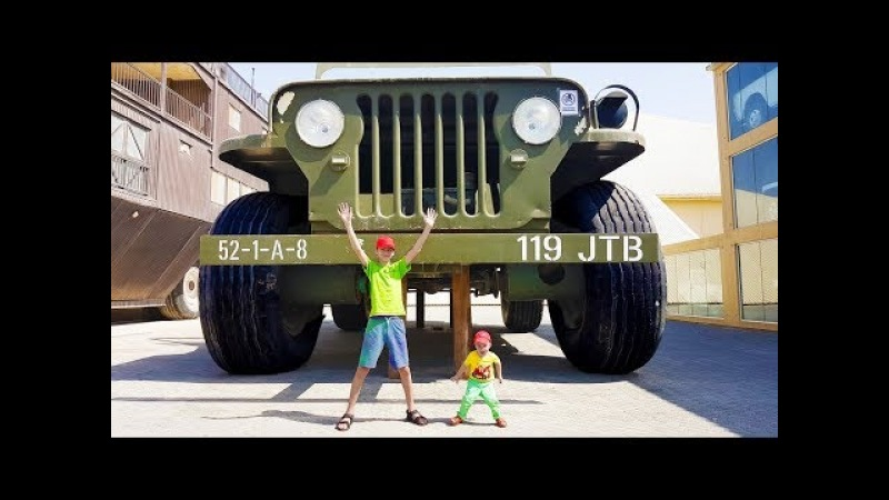 Funny Baby The Power Wheel by GIANT Cars BIG Cars video for children