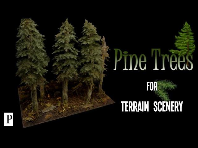 Как сделать ели для ландшафта (How To Make Pine Trees For Terrain Scenery)