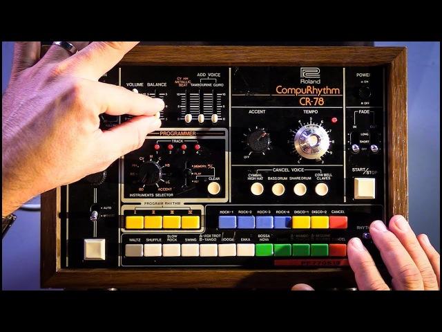 Roland CR-78 Vintage Drum Machine In Action