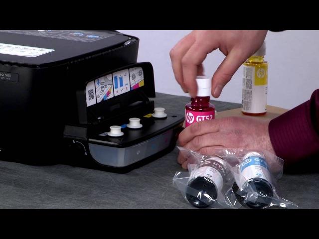 Распаковка и настройка принтеров HP DeskJet GT 5820 и 5810