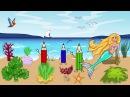 Мультфильм про водный мир с Русалочкой и Царевной Лягушкой. Развивающие мультики для детей