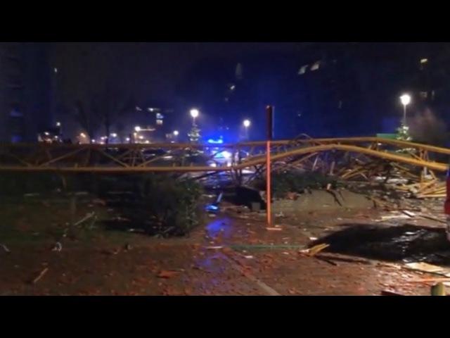 Um morto em queda de grua devido a ventos fortes na Bélgica