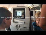 Child Screams and runs through the plane for 8 hr temper tantrum, by New York Artist Shane Townley