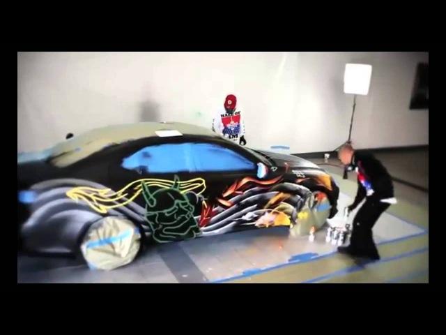 MTN Montana Colors Graffiti Car Lexus