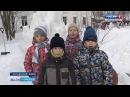 В Устьянах прошёл конкурс снежных скульптур