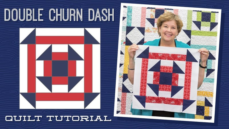 Make a Double Churn Dash Quilt with Jenny!