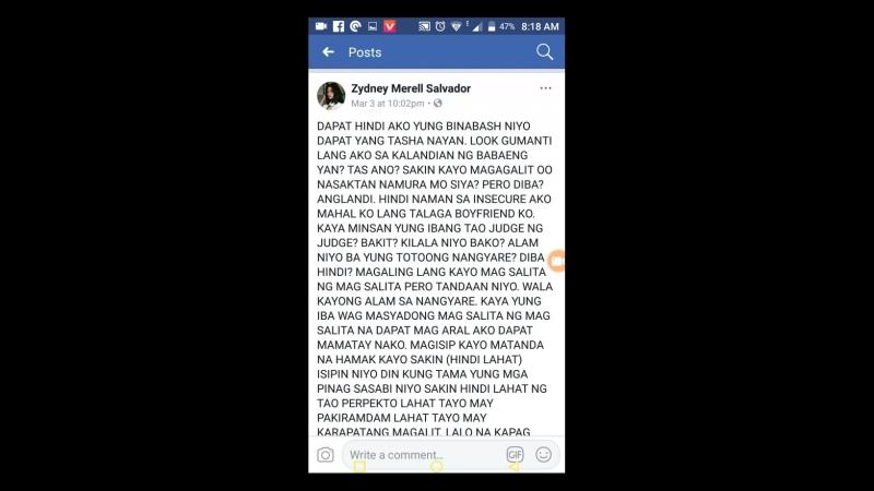 Tagalog is zydney merell Salvador