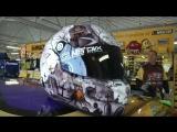 Kyle Busch debuts Halloween-themed helmet for Kansas