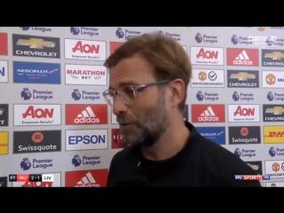 Man Utd 2-1 Liverpool - Jurgen Klopp Post Match Interview (2)