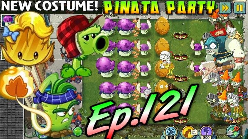 Plants vs. Zombies 2 || Gold Leaf, Primal Peashooter, Wasabi Whip Costume Pinata 4102018 (Ep.121)
