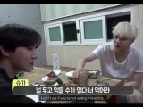 the fact yoongi said he couldn't eat if hoseok wasn't eating and offered him the last of t