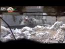 О, привет! Сирийский танк производит выстрел прямой наводкой по террористам.