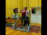 Мария Вострикова - присед 160 кг