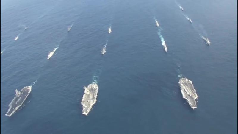 ВМС США перебросили три авианосных группы в район Японского моря