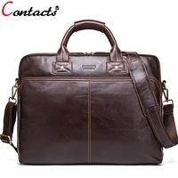 3efc05381d75 Пояса из натуральной кожи Для мужчин сумка дизайнер Сумки на плечо сумка  новый Бизнес сумка 15.6