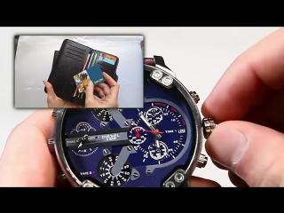 Комплект портмоне hugo boss + часы diesel brave