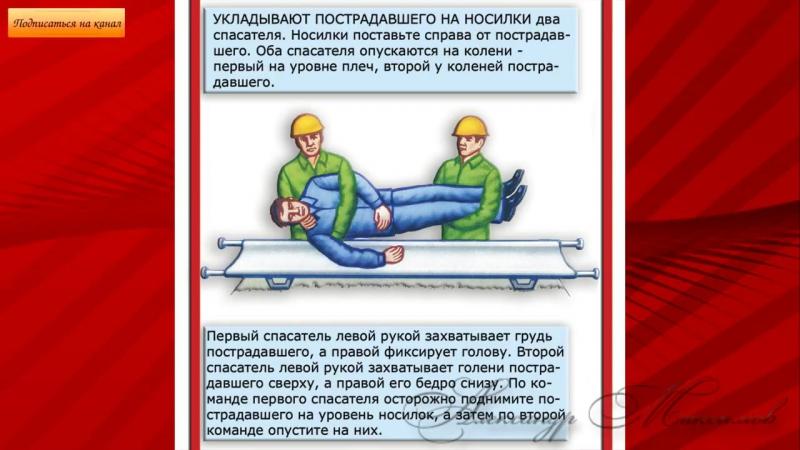 Как правильно переносить потерпевших при различных травмах.mp4