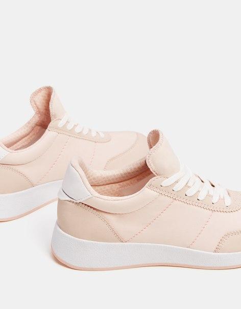 Комбинированные кроссовки с деталями из ткани