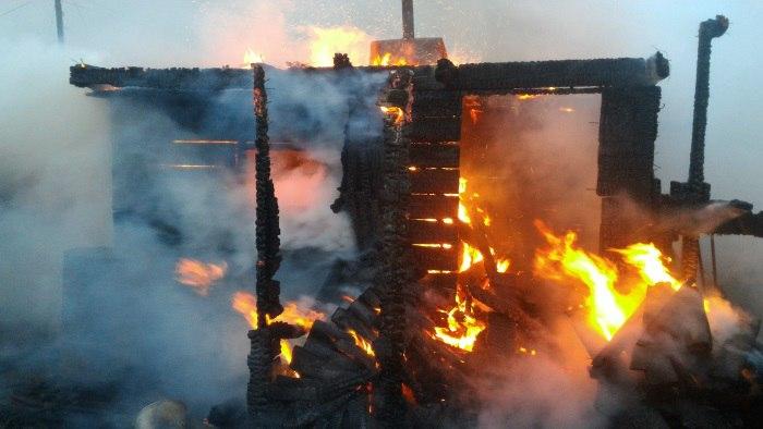 Пожар в п. Железнодорожный