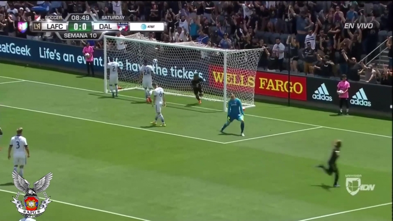 Голевая передача Диего Росси Марашляна в матче против | «Далласа» 05.05.2018