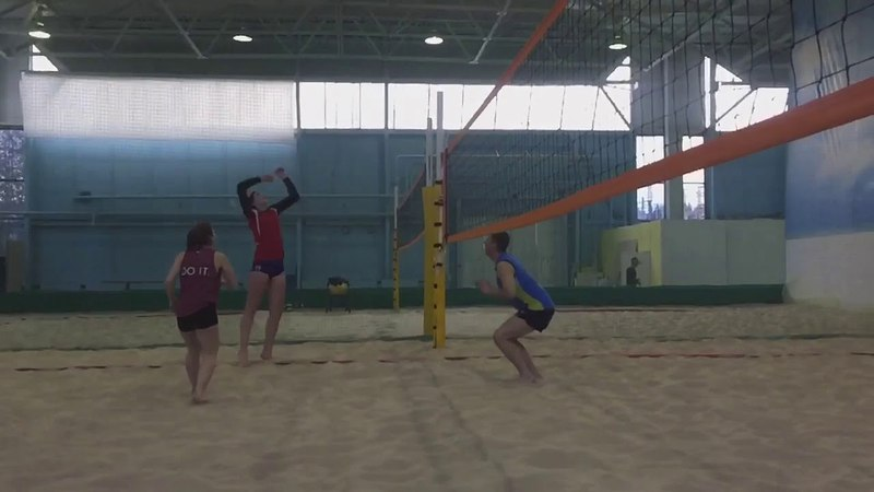 Beach volley training. moments (Academy PFV)