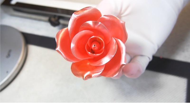 설탕공예-장미 만들기/How to make a sugar rose : Team_Seika Sugar Flower/飴細工ーバラ