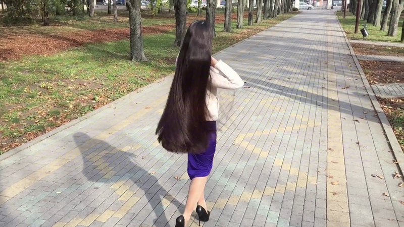 Long hair in the park. Missed? I also! My sellfy account has been restored!Thank you for your love💕